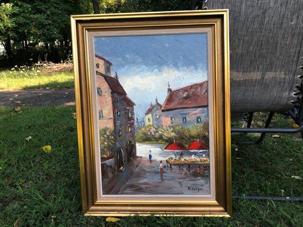 Tablou,pictura franceza un ulei pe panza,tehnica spaclu