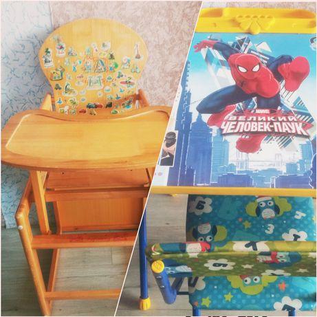 Детский стол (стол для кормления, парта со стулом)