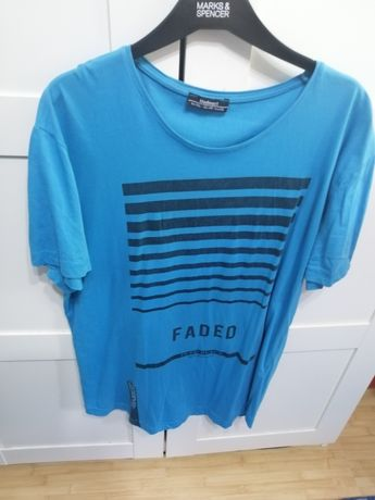 Tricou cu marcă fata/spate albastru marin  MDX, Bershka