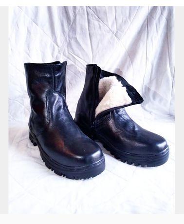 Мужская зимние сапоги и туфли! Новый!кожа!