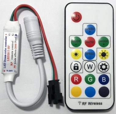 Controler RGB cu telecomanda, 5-24V/6A, pentru benzi cu LED-uri RGB