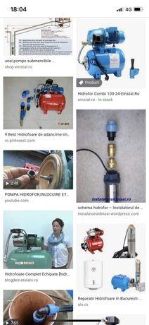 Repar hidrofoare , reglez presiunea sau schimb zona Bragadiru ,Ilfov .