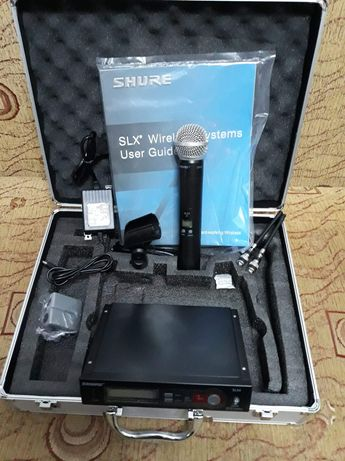 Microfon wireless SHURE SLX 2/4 SM 58 + case pentru transport