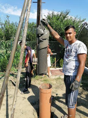 Foraje puțuri piloni și denisipari Craiova