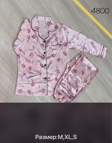 Шелковые пижамы 4500 тг