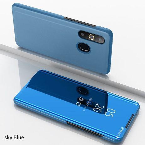 Samsung A10 A20E A40 A50 A70 Flip Case Clear View Negru Auriu Albastru