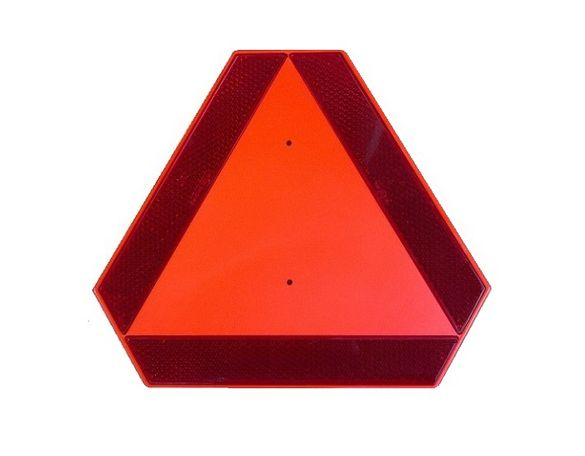Триъгълни табели за бавнодвижещи се превозни средства.