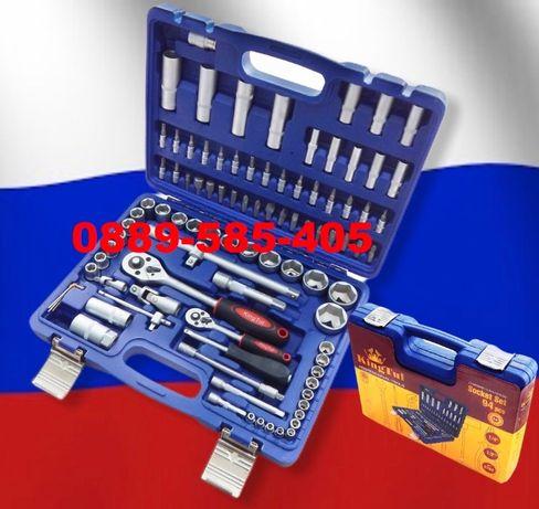 ПРОМО KING Руско гедоре гедория в куфар 94 части инструменти гидоре