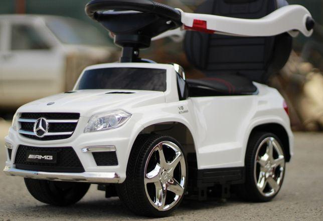 Masinuta cu maner pentru copii Mercedes GL63 AMG 6V 3 în 1 #White