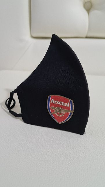 Masca Arsenal, bumbac satinat, dubla, premium, reutilizabila
