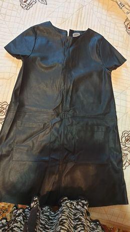 Платье кожзам, стильное Zara
