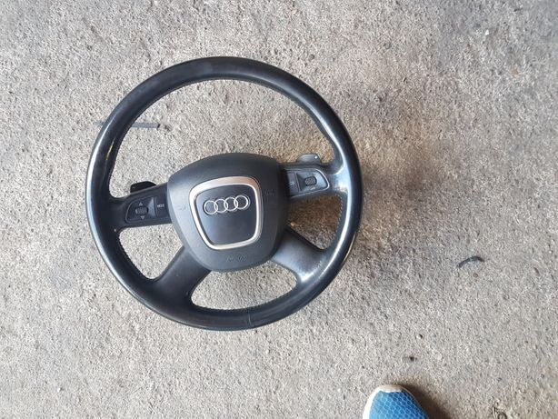 Volan Audi a6 4f piele comenzi padele