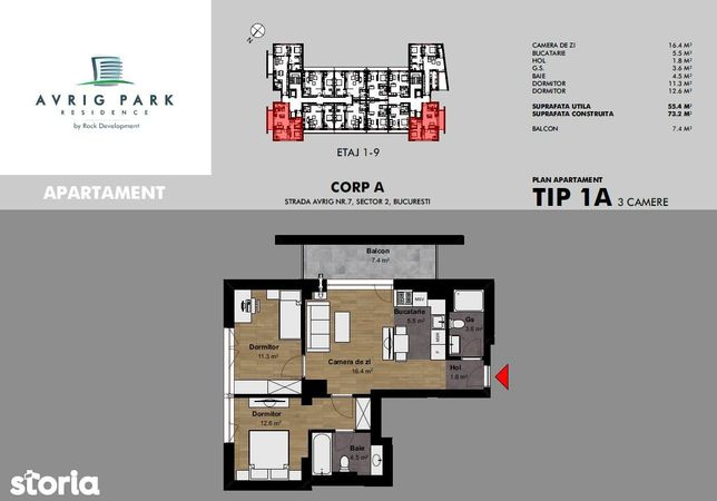 Apartament bloc nou zona Obor