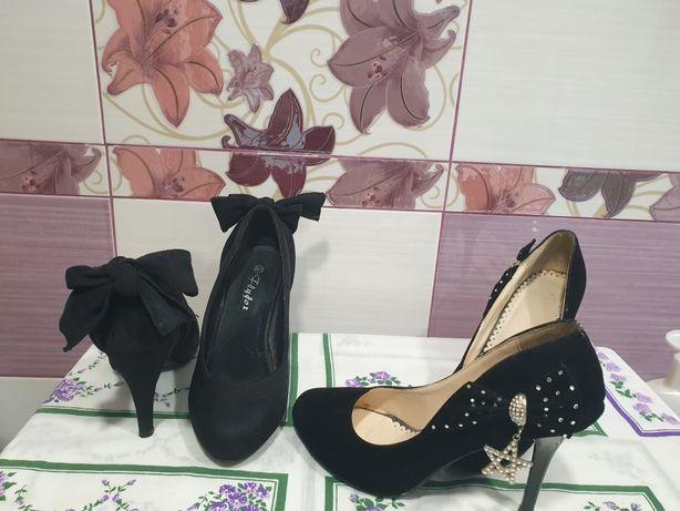 Pantofi din piele întoarsă culoare neagră  !