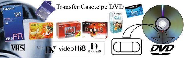 Copiere casete video(7lei) pe Dvd
