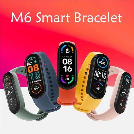 2021! HOT! Смарт Фитнес Гривна / Часовник M6 Smart Fitnes Band