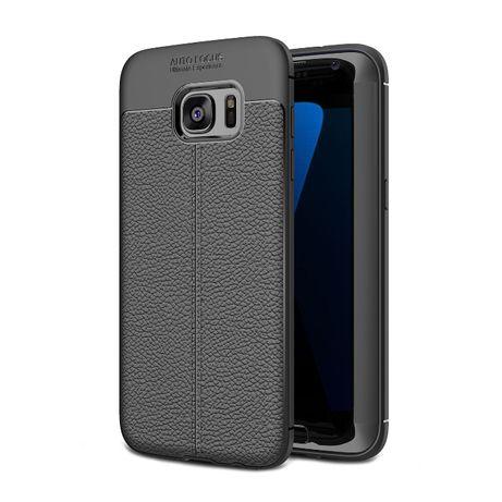 Husa Samsung S7 Edge, silicon + TPU cu model piele, back cover, CaseMe