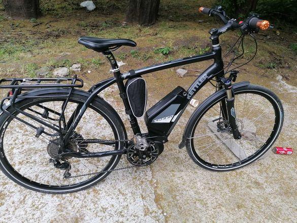 Кетлер ел.велосипед 28 цола,36 V батерия,зарядно,газ
