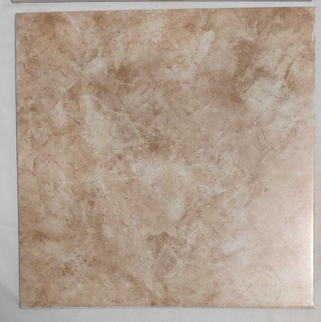 7 placi de gresie - culoare roz marmorat