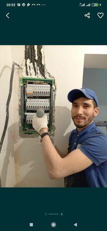 Хороший электрик АВР НАЛАДКА Столб выезд и вызов на Дом Алматы недорог