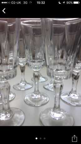10 Pahare noi cristal vintage sampanie/vin alb/ vin rosu