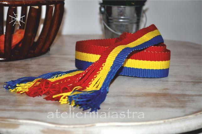 brau tricolor, brau tesut manual, brau tesut la razboi, curea handmade