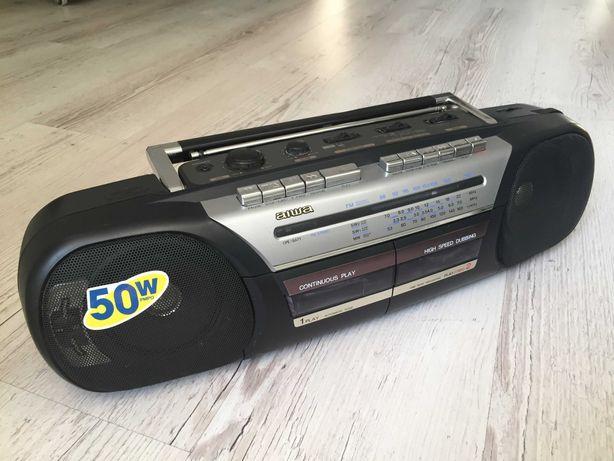Aiwa CS-W520SH магнитофон двухкассетный, магнитола, радио
