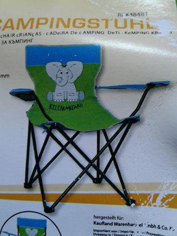 Scaun pliabil pentru copii, de camping,cu spatar,brate si suport pahar