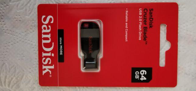 Memorie USB SanDisk cruzer blade 64 gb