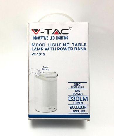 LED акумулаторна, къмпинг лампа Power bank, 4000K, 6W, нова,