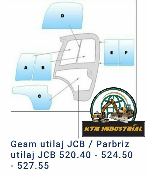 Geam / Parbriz JCB Vaslui - imagine 1