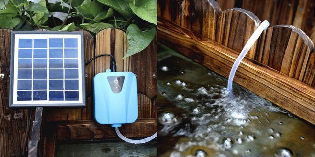 NEW Pompa Oxigen cu panou solar pentru acvarii cu pesti Oxigenare arti