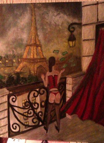 """Картина""""простит..ка в Париж"""""""