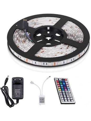Светодиодная лента 5м RGB + Блок питания + Пульт Комплект lent