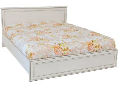 Кровать двуспальная (Tiffany 160), коллекции Тиффани, Вудлайн Кремовый