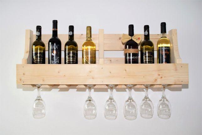 Suport raft 8-10 sticle de vin și 8 pahare