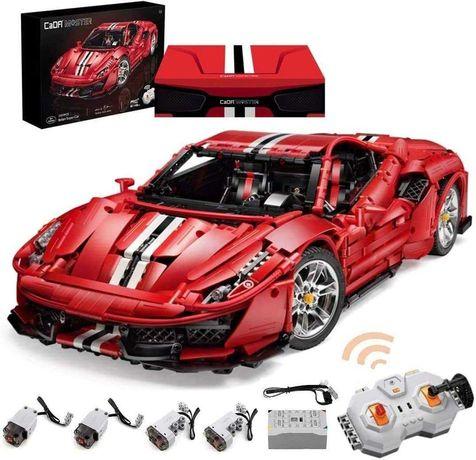 Ferrari 488 Pista Creator LED CaDA Lego 3187ч. R/C Управление 1:8 59см