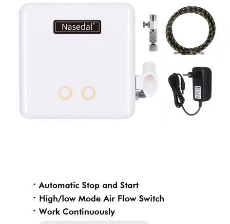 Mini compresor aerografie, cu functie START/STOP