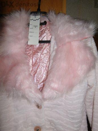 розово леко яке с пухена яка