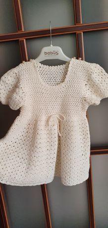 Детска плетена рокля за 2-3 годишно дете-15лв