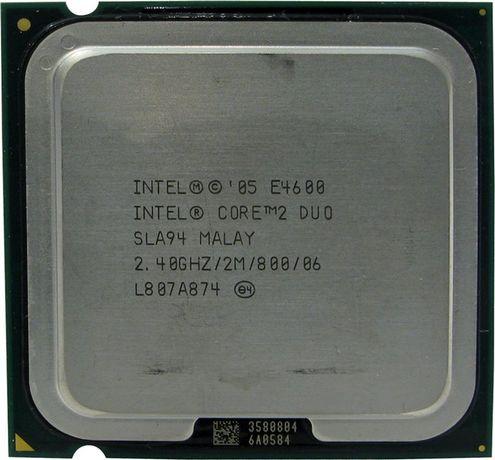 Intel Core 2 Duo E4600, 2.40GHz, ядер: 2/2T, LGA775, oem, б/у.