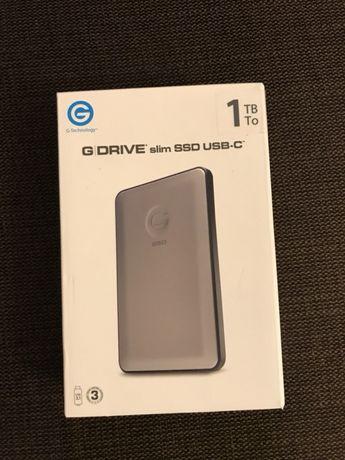 SSD extern G-technology GDRIVE slim USB-C USB 3.0 1TB Nou Garantie