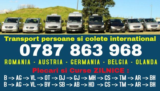 ZILNIC transport persoane gj u Romania Austria Germania plecari adresa