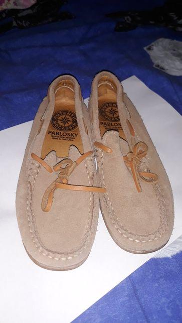 Pantofi sport piele intoarsa, marimea 31 culoare maro