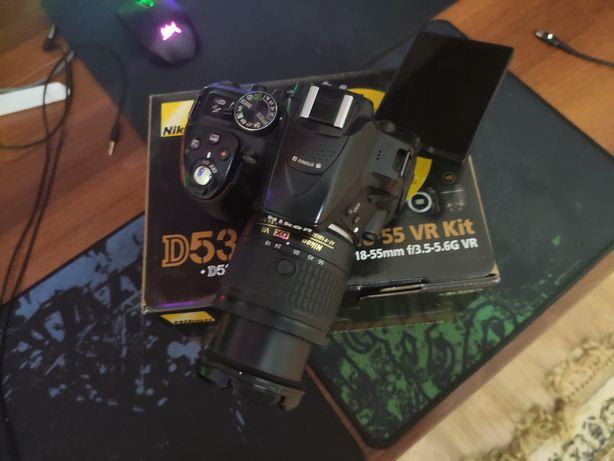 Зеркальная камера Nikon d5300 kit 18-55 vr f3.5-5.6 срочно