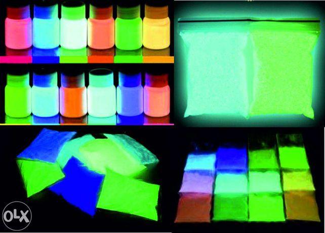 Светящиеся краски Люминофор Алматы, доставка по Казахстану и России