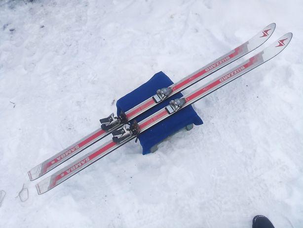 Горные лыжи с крепленями