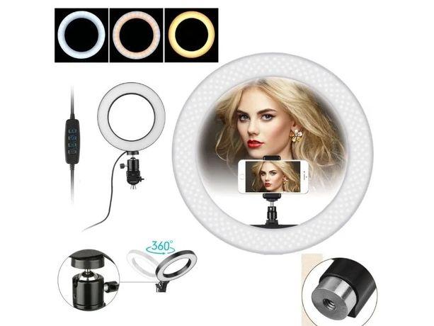 Lampa Profesionala LED Circulara 26cm Make-UP Studio Foto Selfie