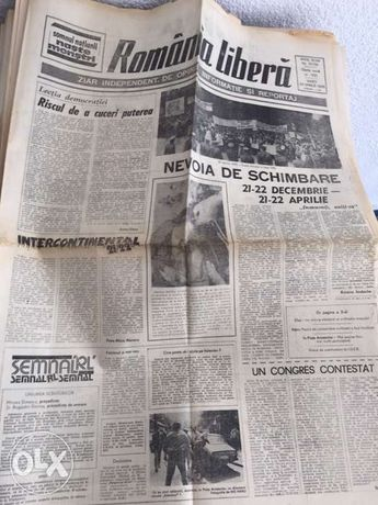 Colectia pe anul 1990 a ziarului Romania Libera .