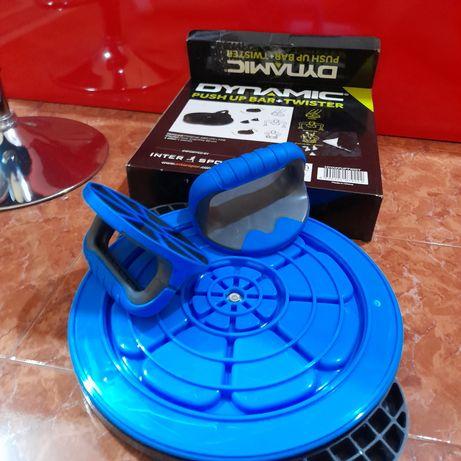 Комплект push-up twister Dynamic, Черен/Син, Диаметър 48 см